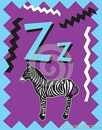 Flash Card Letter Z nouns