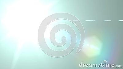 Flash Light. Fiilling Star - Lens Flare Effect Background. 4K Video stock video footage