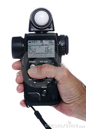 Flash meter on hand