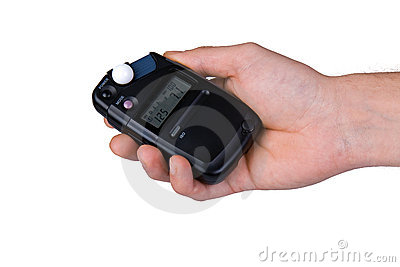 Flash meter in hand