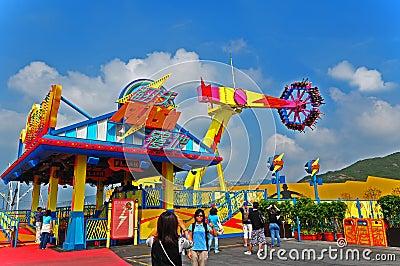 Flash ride of ocean park hong kong Editorial Image