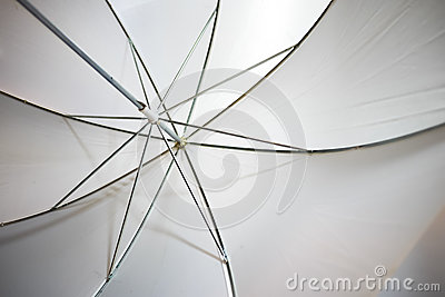 Flash umbrella closeup
