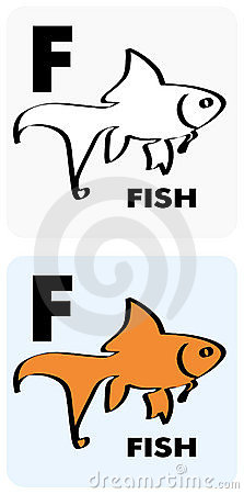 Flashcard for letter F