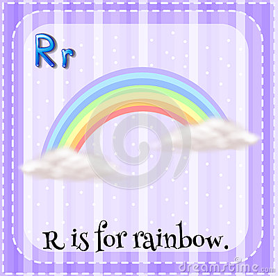 R Is For Rainbow Flashcard Of R Is For ...