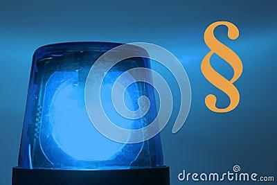Flashing blue light