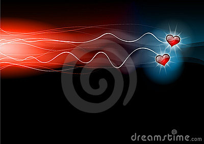 Flashing hearts