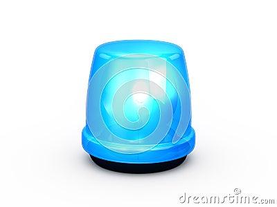 Flashing Light Blue