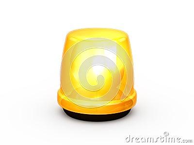 Flashing Light Yellow
