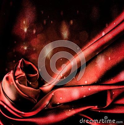 Flashing red satin background.