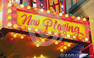 Flashing sign at carnival