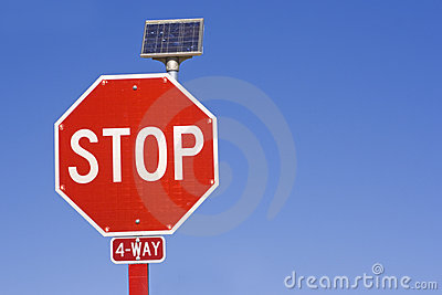 Flashing STOP sign