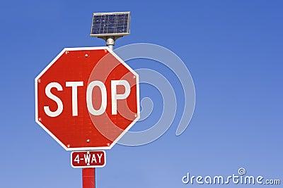 Flashing STOP sign