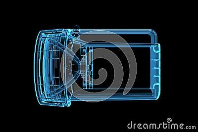 Flashlight 3D X-Ray Blue