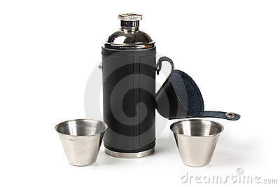 The flask of brandy