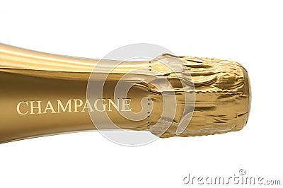 Flaskchampagne Redaktionell Arkivfoto