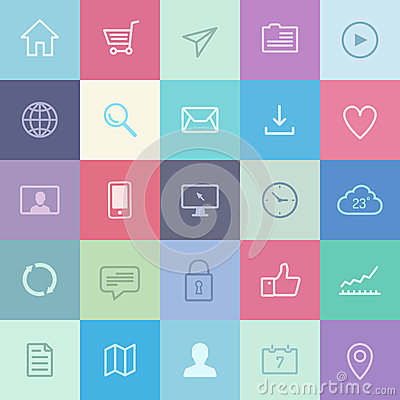 Free Flat Application Icons Set Stock Photography - 33871202