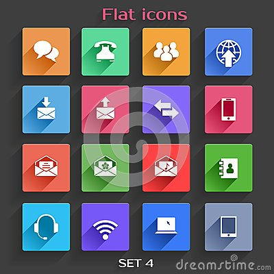 Flat Application Icons Set