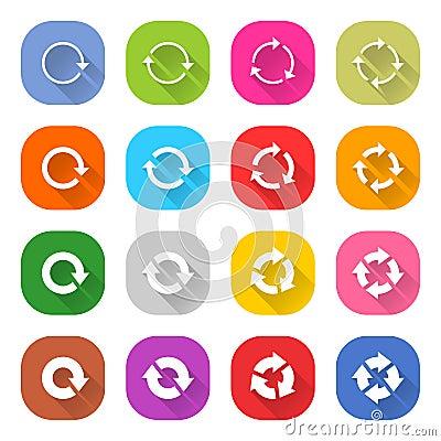 Free Flat Arrow Reload Icon Square Web Button Royalty Free Stock Photos - 77286798