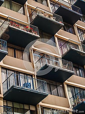 Flat balconies