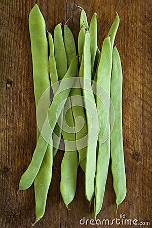 Flat beans.