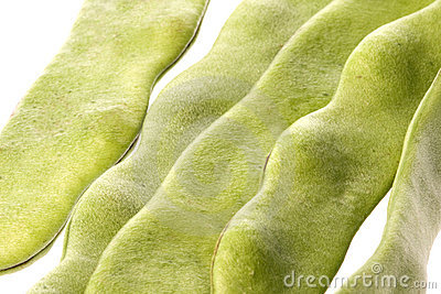 Flat Beans Isolated