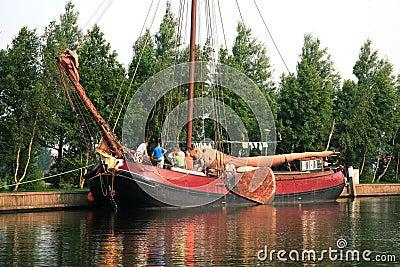 Flat boat, Netherlands, Heeg