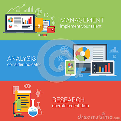 Free Flat Business Analysis Analytics Management Research Infographic Stock Photography - 47155582