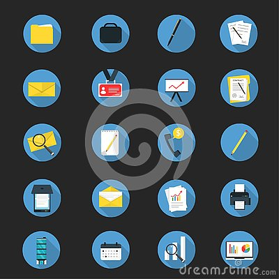 Flat Business Icon Set Vector Illustration Vector Illustration
