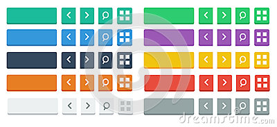 Flat buttons and Icons