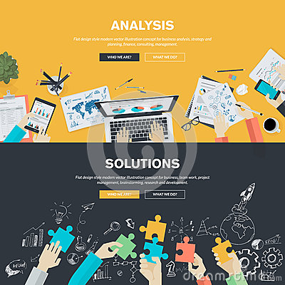 Free Flat Design Illustration Concepts For Business Stock Photography - 50571492
