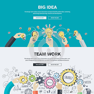 Free Flat Design Illustration Concepts For Business And Marketing Royalty Free Stock Photo - 50397945