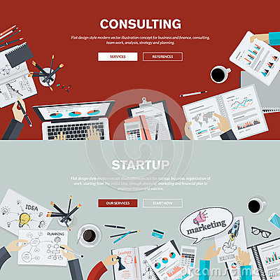 Free Flat Design Illustration Concepts For Business Consulting And Startup Stock Images - 50397574