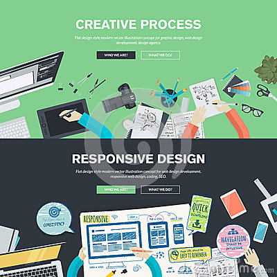 Free Flat Design Illustration Concepts For Graphic And Web Design Royalty Free Stock Images - 50571169