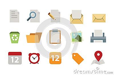 Flat Documents icon set