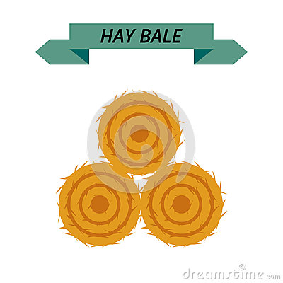 Free Flat Dried Haystack Isolated On White Background. Farming Haymow Bale Hayloft Vector Illustration, Hayrick. Royalty Free Stock Images - 81164199