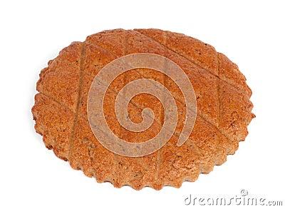 Flat dry shortbread