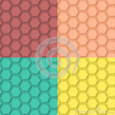 Flat Hexagonal Pattern
