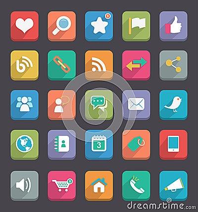 Free Flat Icons Royalty Free Stock Photo - 31966695