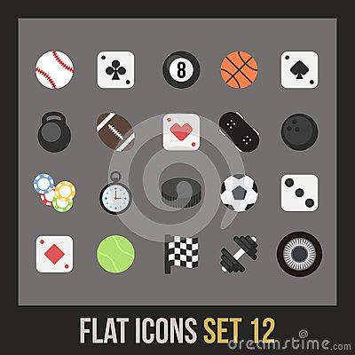 Free Flat Icons Set 12 Stock Images - 35982534
