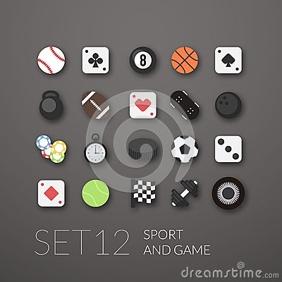 Free Flat Icons Set 12 Stock Images - 42388314