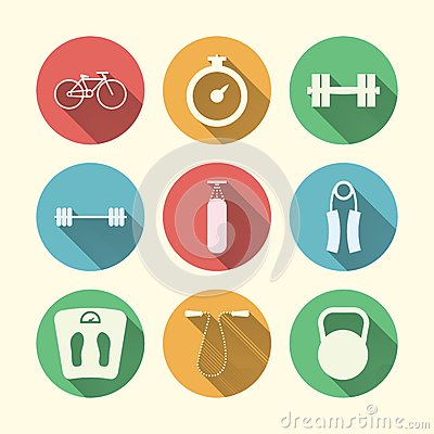 Flat icons for sport Vector Illustration