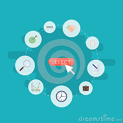 Flat Icons Task List, Diagram, Magnifier And Other Vector Elements. Set Of Trade Flat Icons Symbols Also Includes Vector Illustration
