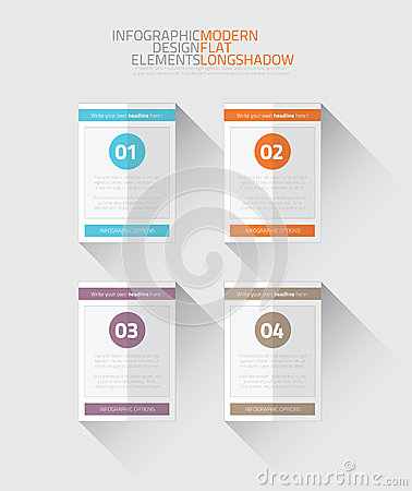 Modern Business Timeline Vector Infographic Option Royalty Free ...