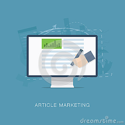 Flat internet article and newsletter marketing  il