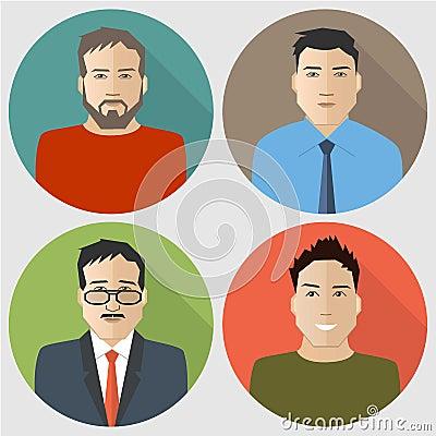 Free Flat Men Icons Stock Photo - 73054880