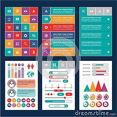 Flat Mobile Interface - Design Elements