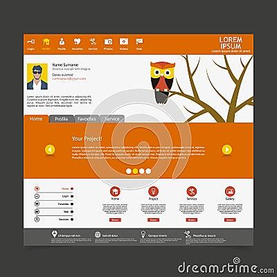 Flat Modern Website Template