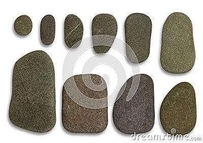 Flat pebbles arrangement