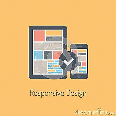 Flat responsive design illustration