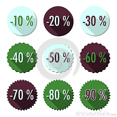 Flat sales buttons
